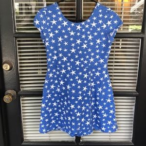 Basic Edition Blue Dress with White Stars
